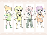 Pastel-Xecax Collab- Pastel PJ adopts! [ONE LEFT!] by Xecax