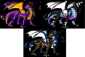 Dragon Adoptables Sheet ~OPEN~ by NikoNikoAdopts