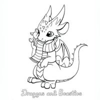 Inktober: Cozy by DragonsAndBeasties