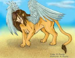 Female Winged Sphinx by arania