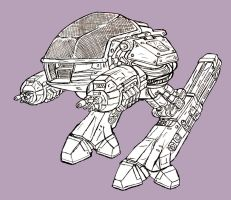 ed209 outline by wookieebasher