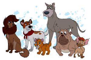 Oliver and Company by Velvet-Loz