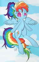 Ponytailed Dash by HamaTTe