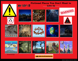 Top 13 Places I Wouldn't Want to Live At by KessieLou