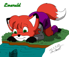 Emerald watching a fish by Timothius
