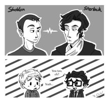 Sheldon meets Sherlock by otakufox23