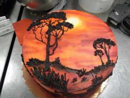 Lion king cake. by GuppyCake
