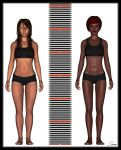 Amy & Robyn Height Comparison by celticarchie