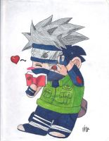 Chibi Kakashi by quickwing23
