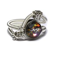 Steampunk jewelry Ring Crystal by CatherinetteRings