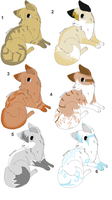 Puppy adopts 4 by Icey-adopts