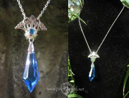 Celestial Crystal Necklace by Lillyxandra