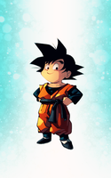 Goten colored by marvelmania