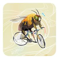 Bee on a bike by fresh4u