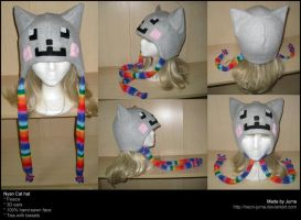 Nyan Cat hat 2 by Neon-Juma
