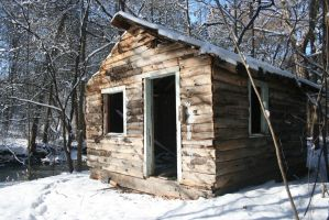 Abandoned Snow Cabin:.2 by Amor-Fati-Stock