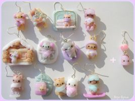 Kawaii wintern animals earrings by Bojo-Bijoux