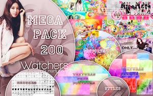 +MEGA PACK|200 Watchers |Muchas Gracias by KarmaButterflyLove