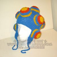 Katamari Hat-BlueYellowOrange by amigurumi