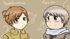 Russia And Romano icons by MeshaSunshine