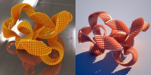 Wings3D - bobbly torus knot strip video by davidbrinnen
