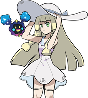 Lillie and Nebby by greatlucario