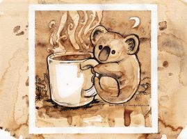 Coffee Koala by MaryDoodles