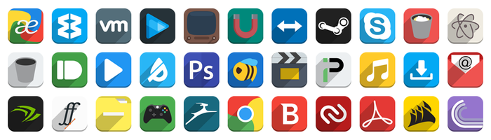 Flat Icon Pack Preview by Saturable