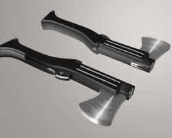 Quad Barreled Axe Shotgun by Drusan13