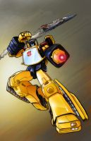 Sunstreaker Pin-Up by glovestudios