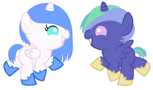 Baby pony adopts by xPixels-Puff-Adoptsx