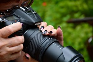 Nikon and Nails by MayEbony