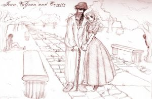 Jean Valjean and Cosette by boogieoogie