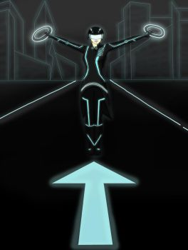 Me in Tron Universe by Erzaix