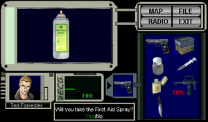 Resident Evil 1 Item Screen by wolfwarrior001