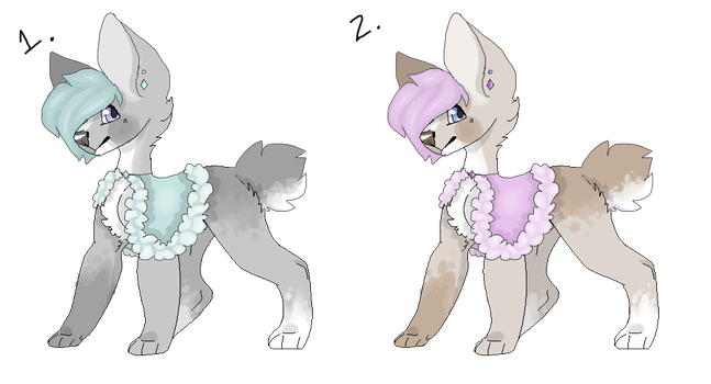 Canine Winter Cape Adopts/ OTA/ OPEN/ PRICE LOWER by HiPsTeR-KittyKat