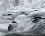 The Mountain River Freeze by wb-skinner