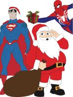 Super Hero Christmas by sentry1996