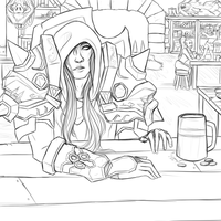 In The Tavern WIP by strxbe