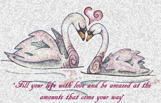 Love Swans Quote by Spiralpathdesigns