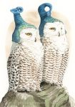 Strange Snowy Owls by GoldeenHerself