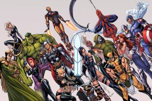 The Avengers Color by logicfun