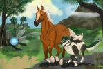 Speed Painting Link and Epona by Savannah-lion-1