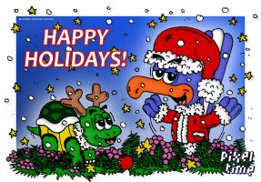 Chuck and Mike - Happy Holidays! by michaelheuvel