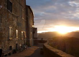 Pienza in the Morning Sun by TCMCorpse