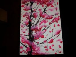 Cherry blossoms by XIceFireX998
