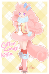 Cottoncandy Kitty Adoptable (CLOSED) by puddinprincess