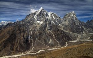 Taboche and Cholatse Peaks by X6Pilot