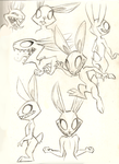 Alien Rabbit thingy doodles by VengefulSpirits