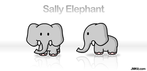 Sally the Elephant by JinxBunny